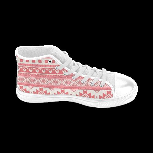 2ba0994a994b ... fancy tribal border pattern 08 red Men s Classic High Top Canvas Shoes (Model  017) ...