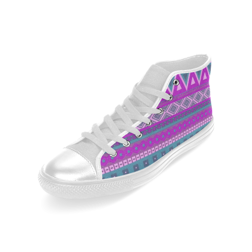 b813ce2e3cd9 ... fancy tribal border pattern 08 pink Men s Classic High Top Canvas Shoes  (Model 017) ...