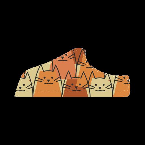 Cute Cats Women's Chukka Canvas Shoes (Model 003)