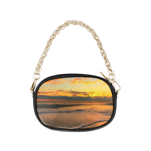 Stunning sunset on the beach Chain Purse (Model 1626)