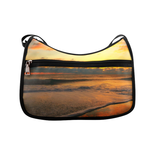 Stunning sunset on the beach Crossbody Bags (Model 1616)