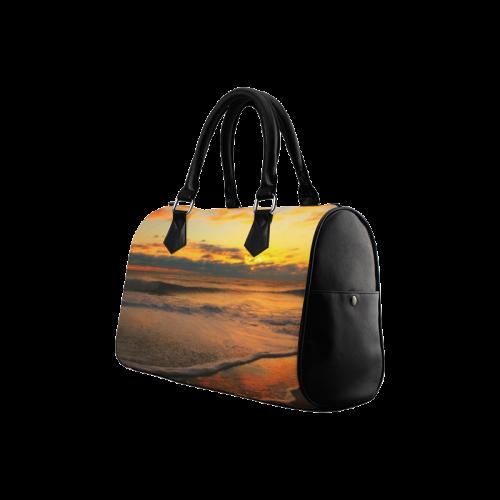 Stunning sunset on the beach Boston Handbag (Model 1621)