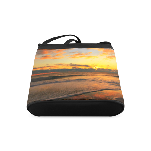 Stunning sunset on the beach Crossbody Bags (Model 1613)