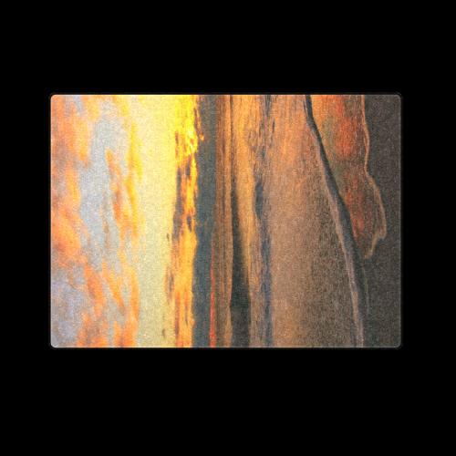 """Stunning sunset on the beach Blanket 58""""x80"""""""