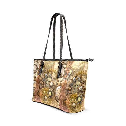 steampunk Leather Tote Bag/Large (Model 1640)