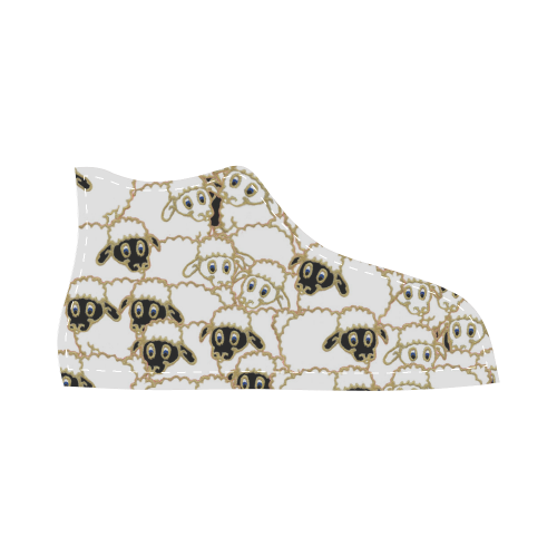 silly sheep shoe High Top Canvas Kid's Shoes (Model 002)