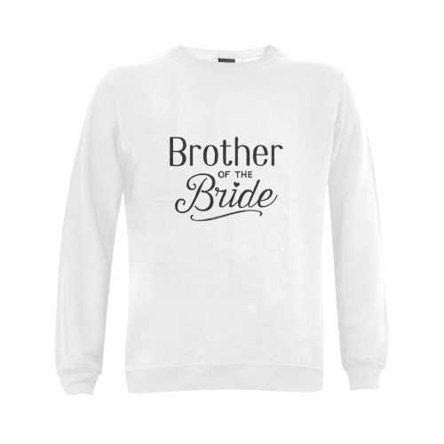 brother of the bride - wedding - marriage Gildan Crewneck Sweatshirt(NEW) (Model H01)