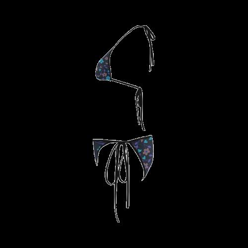 lovely floral 416D Custom Bikini Swimsuit