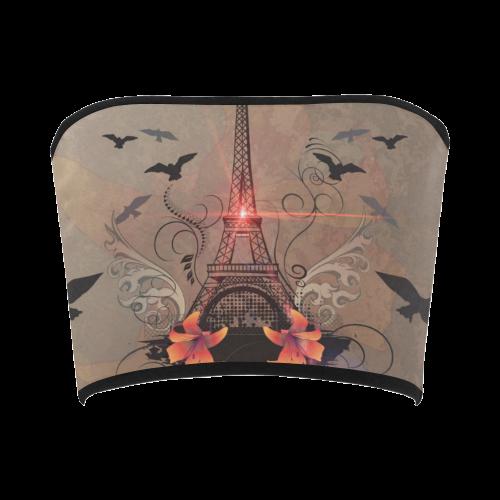 Eiffel tower Bandeau Top
