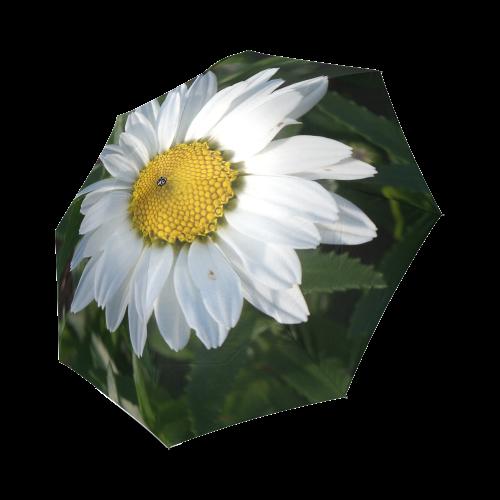 White Daisy Foldable Umbrella