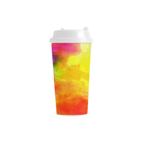 Watercolor abstraction 01 Double Wall Plastic Mug