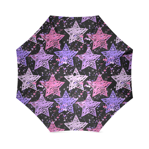 Painted Stars Foldable Umbrella (Model U01)