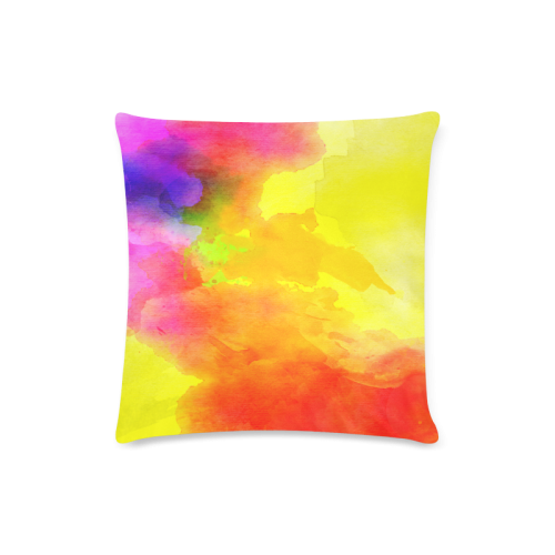 "Watercolor abstraction 01 Custom Zippered Pillow Case 16""x16""(Twin Sides)"