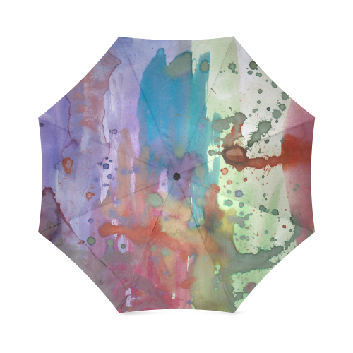 watercolor abstract painting Foldable Umbrella