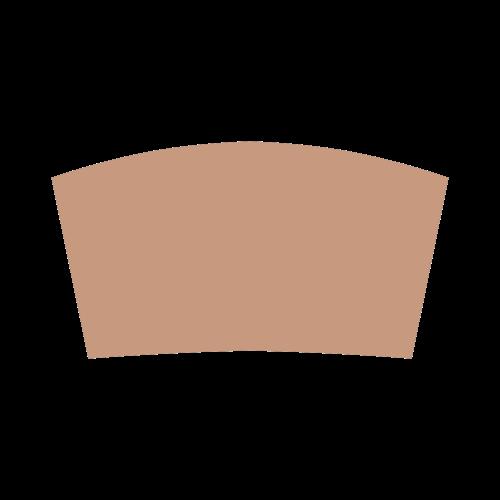 Sandstone Color Accent Bandeau Top