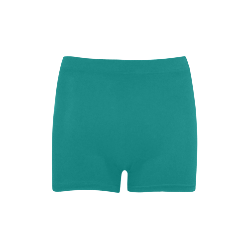 Deep Peacock Blue Color Accent Briseis Skinny Shorts (Model L04)