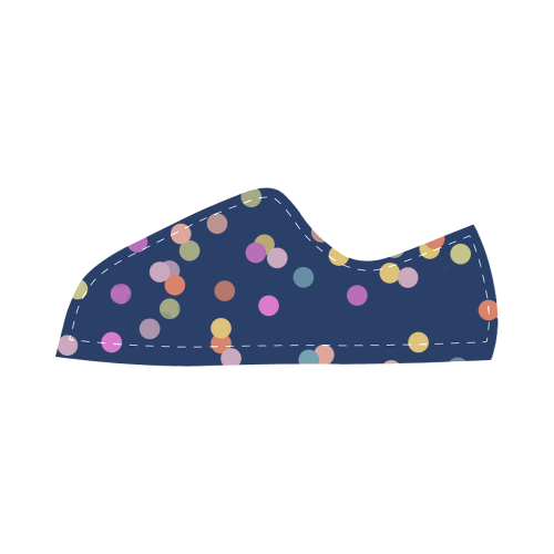 Playful Polka Dots Canvas Kid's Shoes (Model 016)