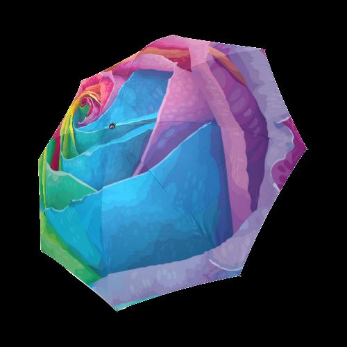 vibrant flower watercolor Foldable Umbrella (Model U01)