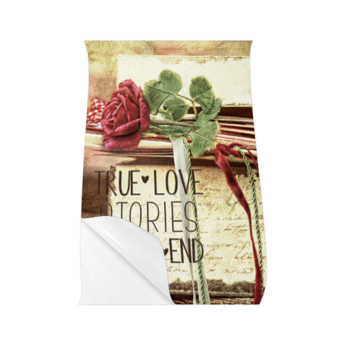 """True love stories never end with vintage red rose Poster 22""""x34"""""""