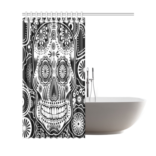 "sugar skull Shower Curtain 69""x72"""