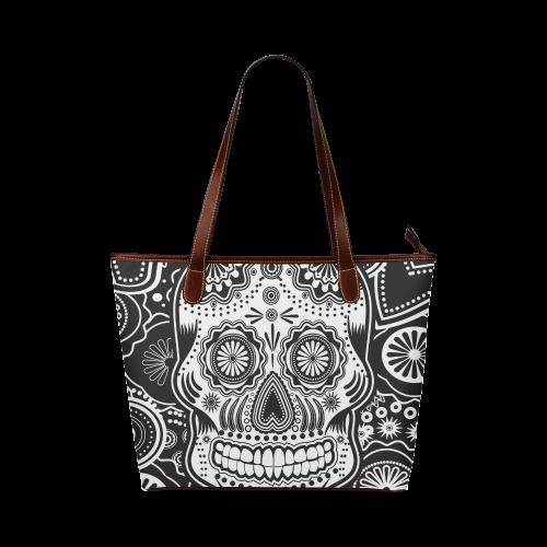 sugar skull Shoulder Tote Bag (Model 1646)  06d939bade8dd