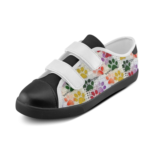 On silent paws by Nico Bielow Velcro Canvas Kid's Shoes (Model 008)