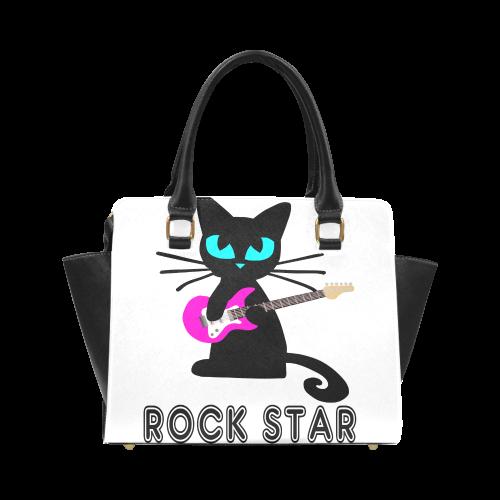rock_star_cat_shoulderhandbag Classic Shoulder Handbag (Model 1653)