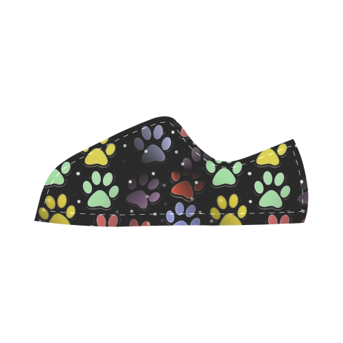 On silent paws black by Nico Bielow Canvas Kid's Shoes (Model 016)