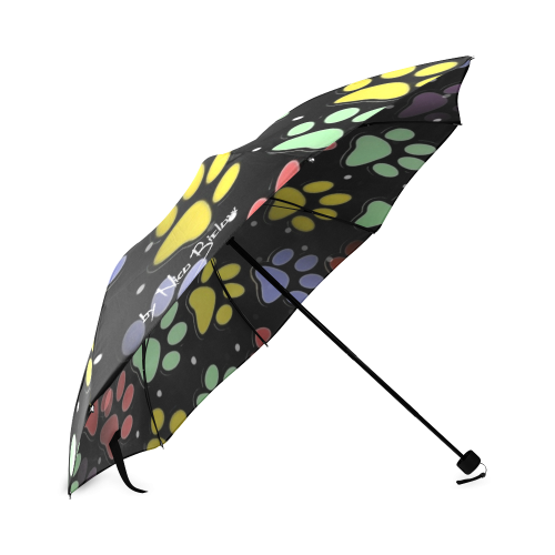 On silent paws black by Nico Bielow Foldable Umbrella