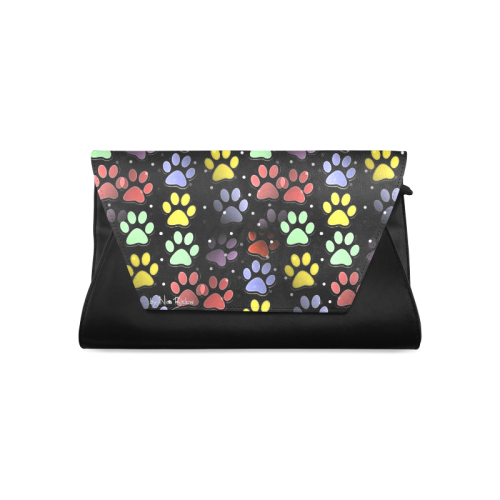 On silent paws black by Nico Bielow Clutch Bag (Model 1630)