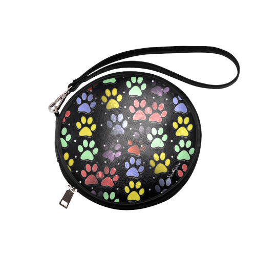 On silent paws black by Nico Bielow Round Makeup Bag (Model 1625)
