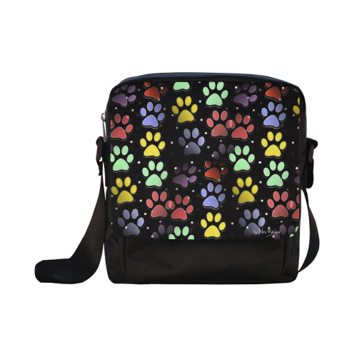 On silent paws black by Nico Bielow Crossbody Nylon Bags (Model 1633)