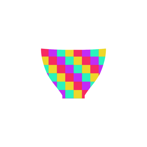 Multicolored Squares 3 Custom Bikini Swimsuit