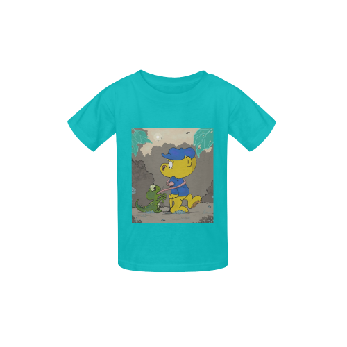 Ferald and the Baby Lizard Kid's  Classic T-shirt (Model T22)