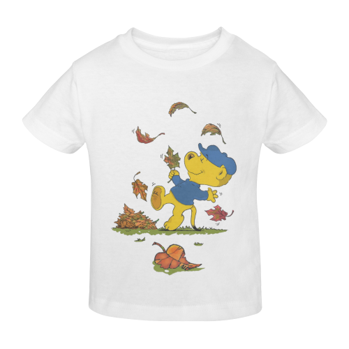 Ferald Dancing Amongst The Autumn Leaves Sunny Youth T-shirt (Model T04)