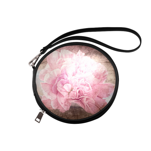 Vintage carnations on a spoon Round Makeup Bag (Model 1625)
