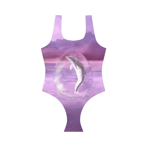 Dream Of Dolphins Vest One Piece Swimsuit (Model S04)