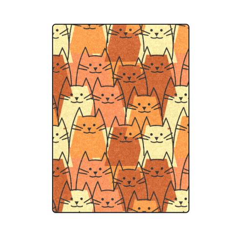 "Cute Cats Blanket 58""x80"""