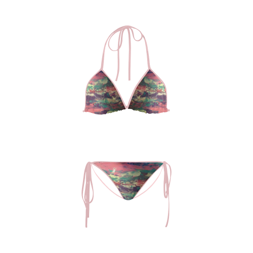 pink sunset Custom Bikini Swimsuit