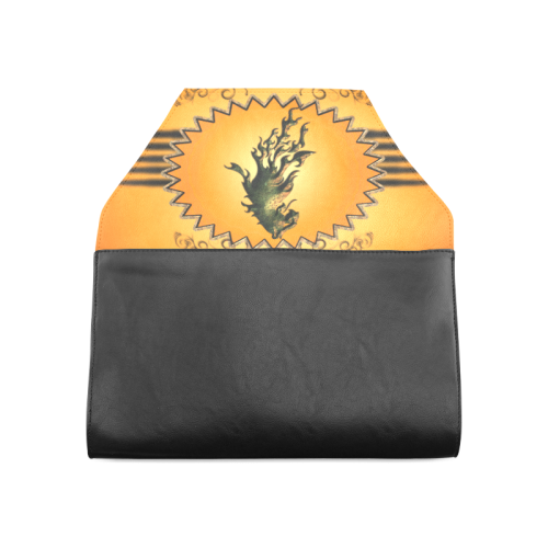Lion with flame Clutch Bag (Model 1630)