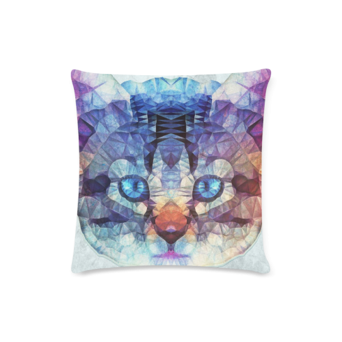 "abstract kitten Custom Zippered Pillow Case 16""x16"" (one side)"