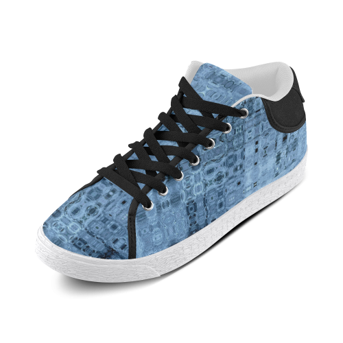 Icy Blue Women's Chukka Canvas Shoes (Model 003)