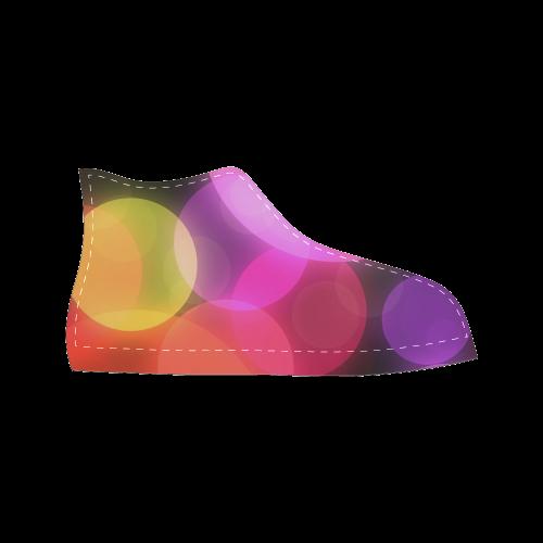 modern bokeh Men's Classic High Top Canvas Shoes (Model 017)