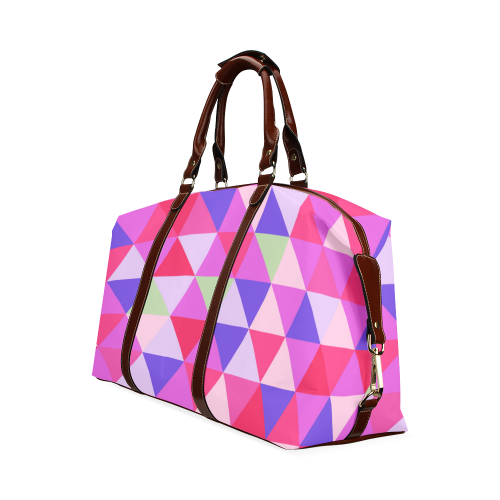 Geometric Pink Triangle Pattern Classic Travel Bag (Model 1643)