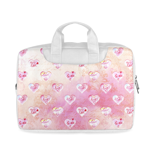 """Vintage Pink Hearts with Love Words Macbook Air 11""""(Twin sides)"""