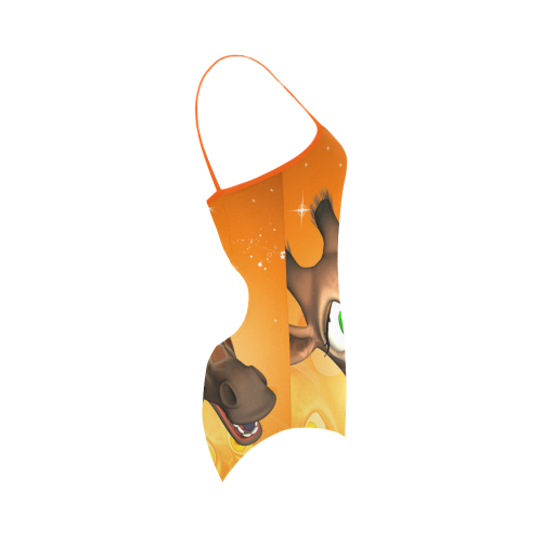 Funny giraffe Strap Swimsuit ( Model S05)
