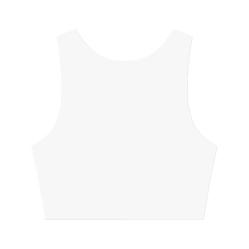 square abstract Women's Crop Top (Model T42)