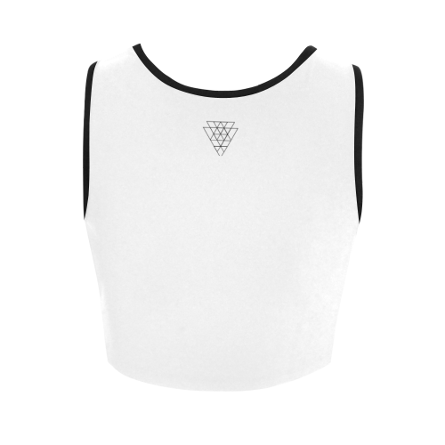 Triangles Women's Crop Top (Model T42)