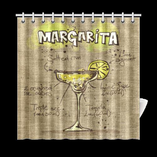 "margarita-04 Shower Curtain 72""x72"""