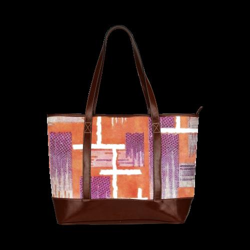 Diamond Weave Anemone Harvest Tote Handbag (Model 1642)
